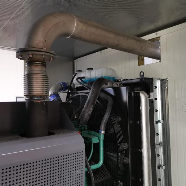 Abgasanlage im Container